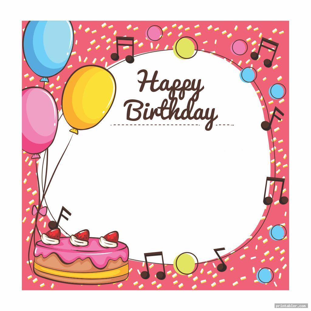 colorful printable happy birthday borders
