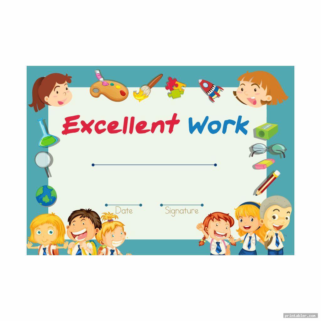 colorful printable kindergarten graduation certificate template