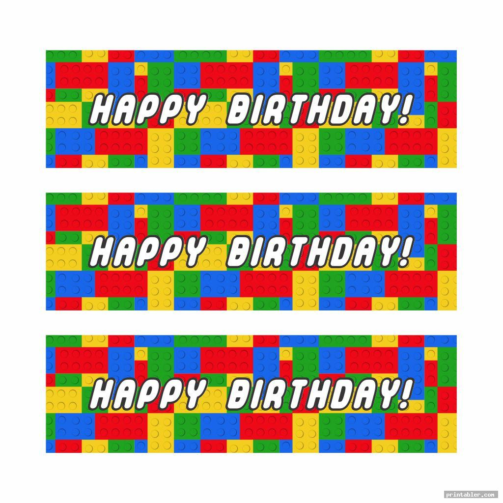 colorful printable lego happy birthday sign