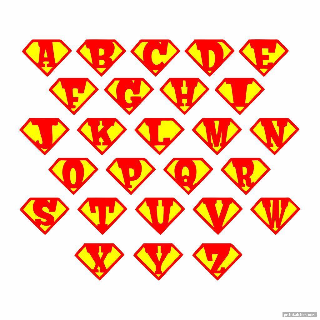 Printable Superman Logo Alphabet