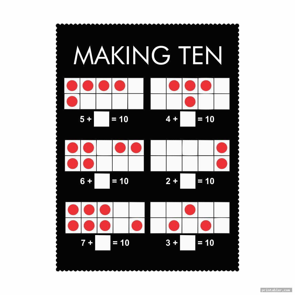 Printable Ten Frame Math Sheets