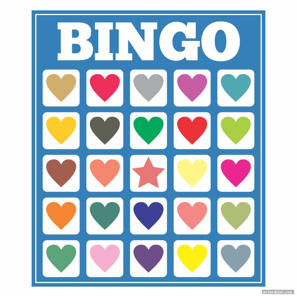 Valentine Cookie Bingo Card Printable