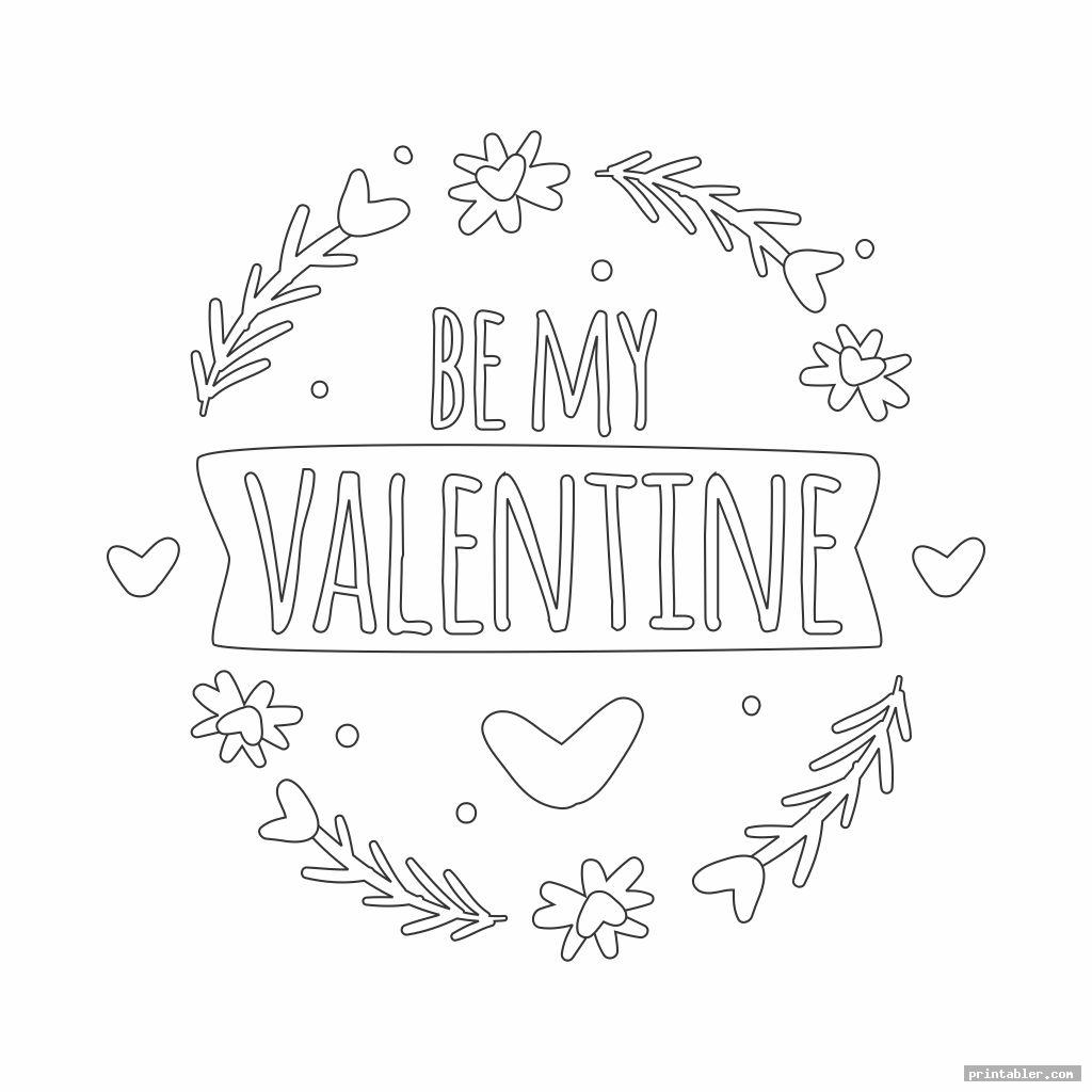coloring page valentine s day printable worksheets