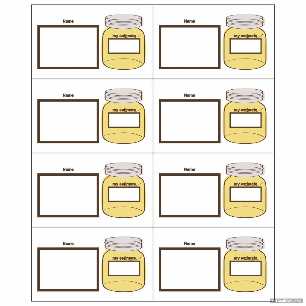 complete estimation jar printable