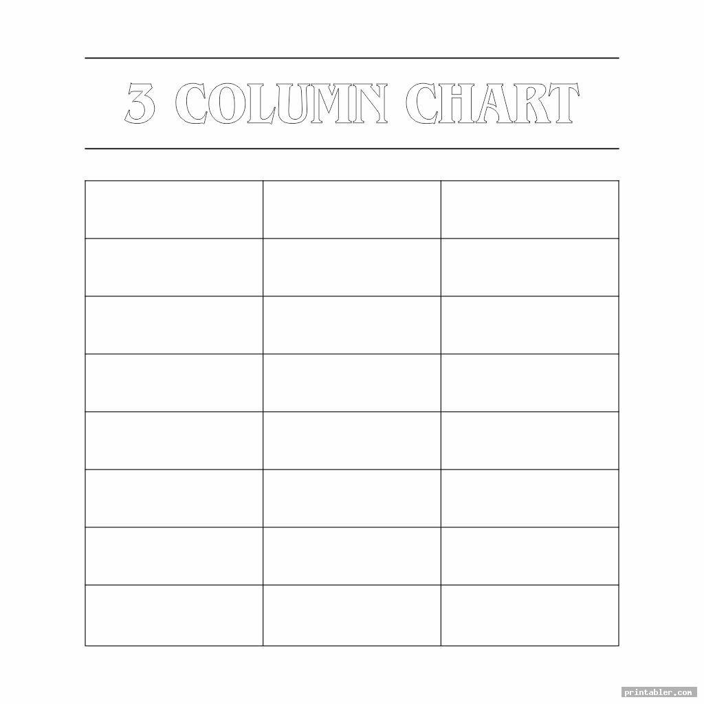 cool 3 column chart printable templates