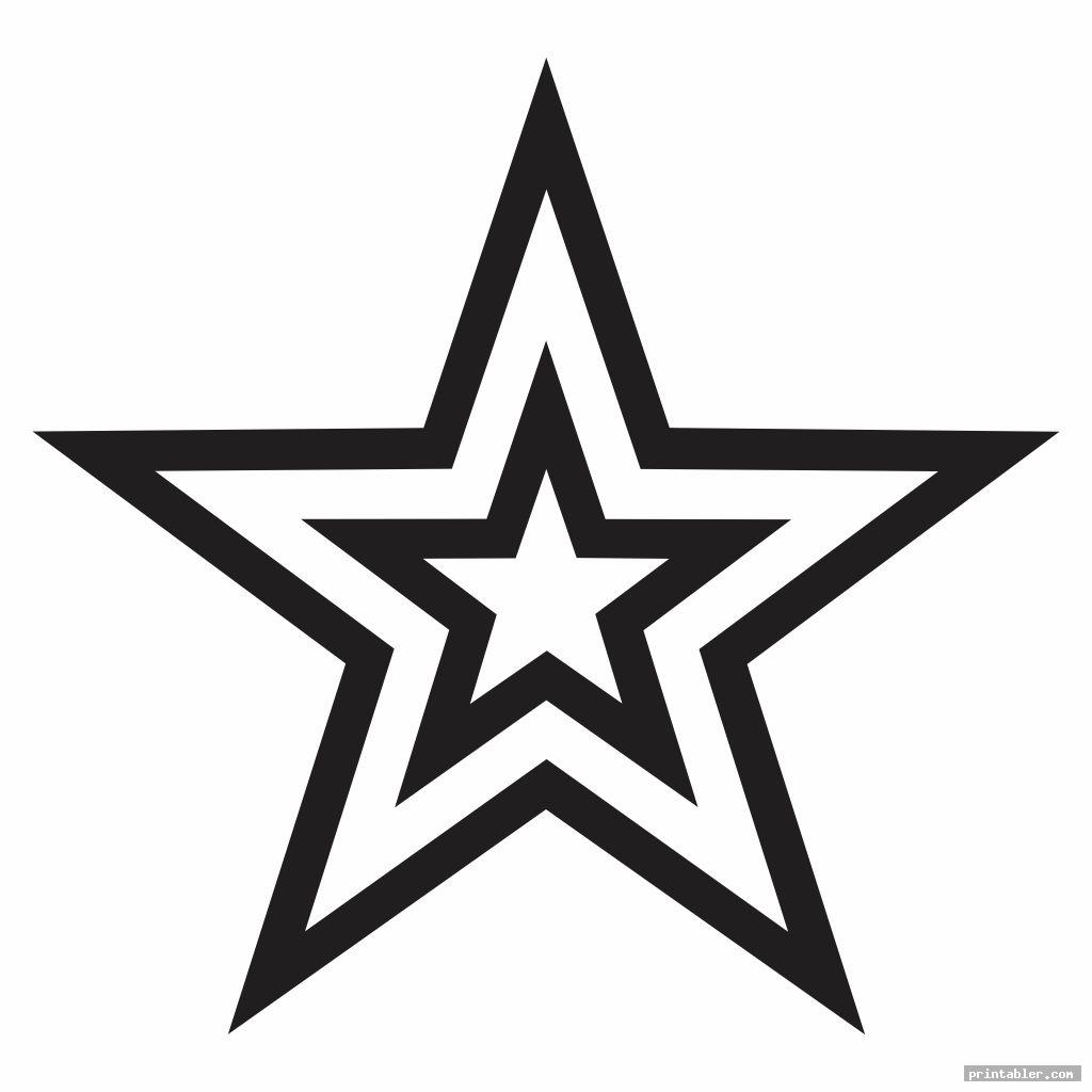 Big Star Template Printable