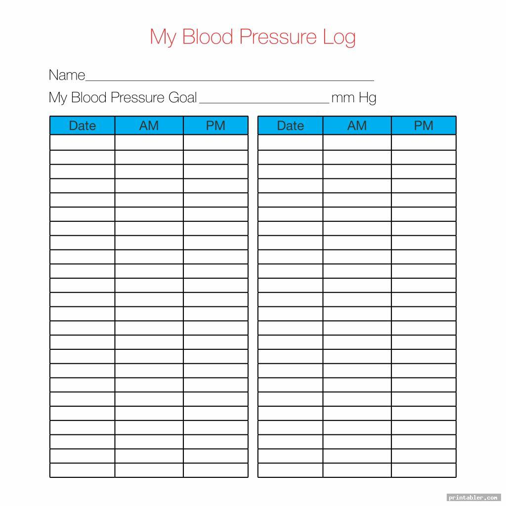 More Blood Pressure Log Printable