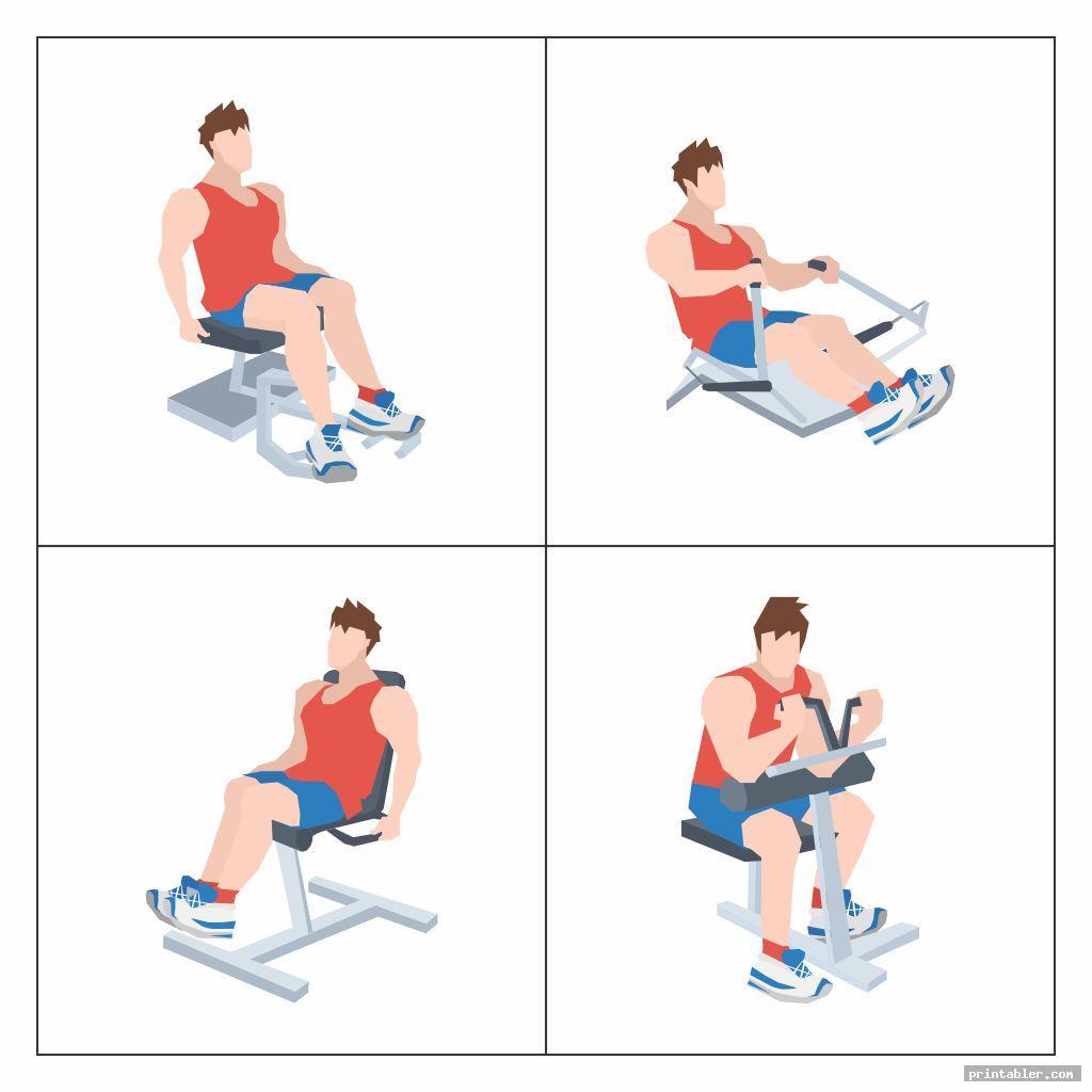 Chair Gym Exercises Printable