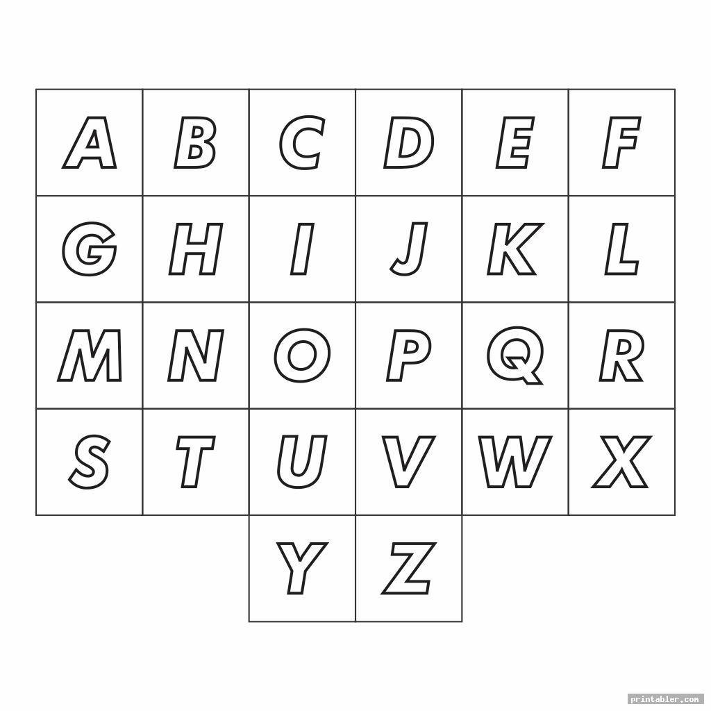 Chart Full Page Alphabet ABC Printable - Printabler.com