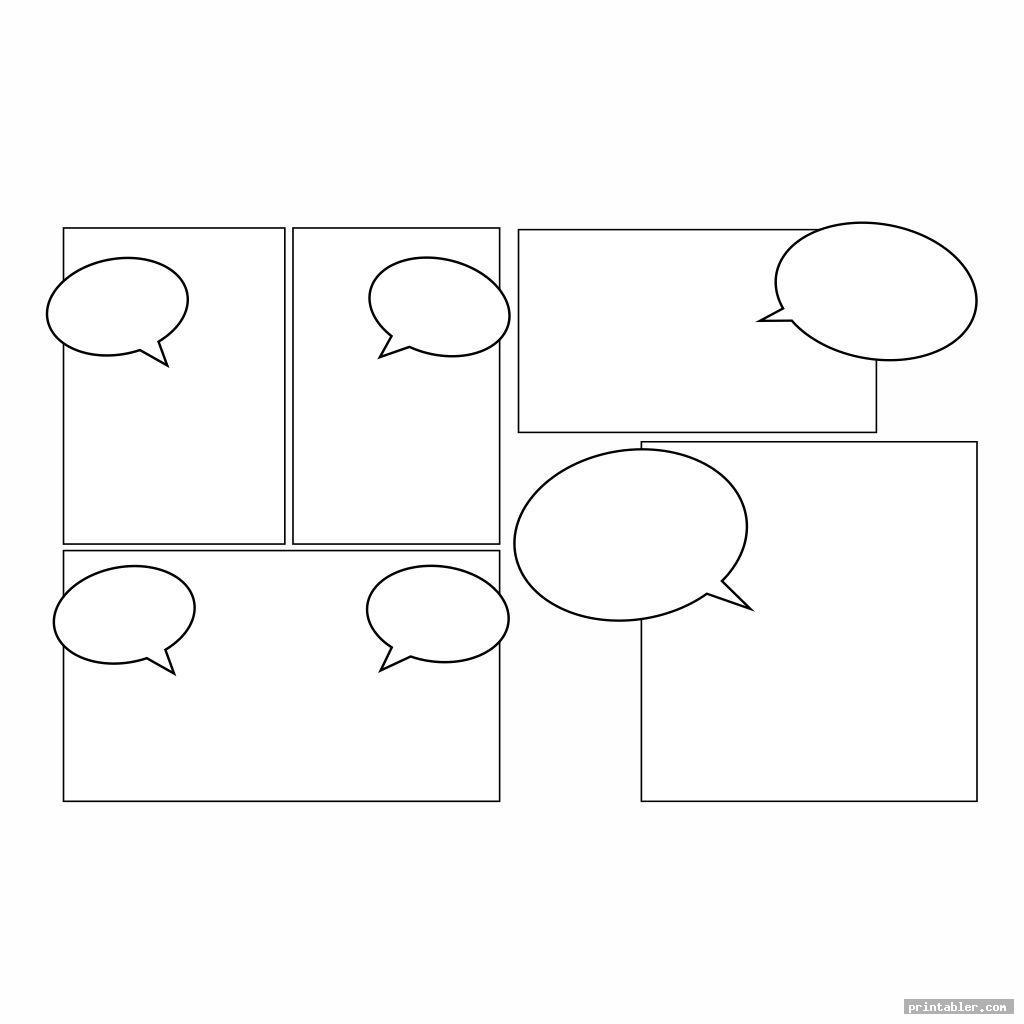 cool comic book templates printable