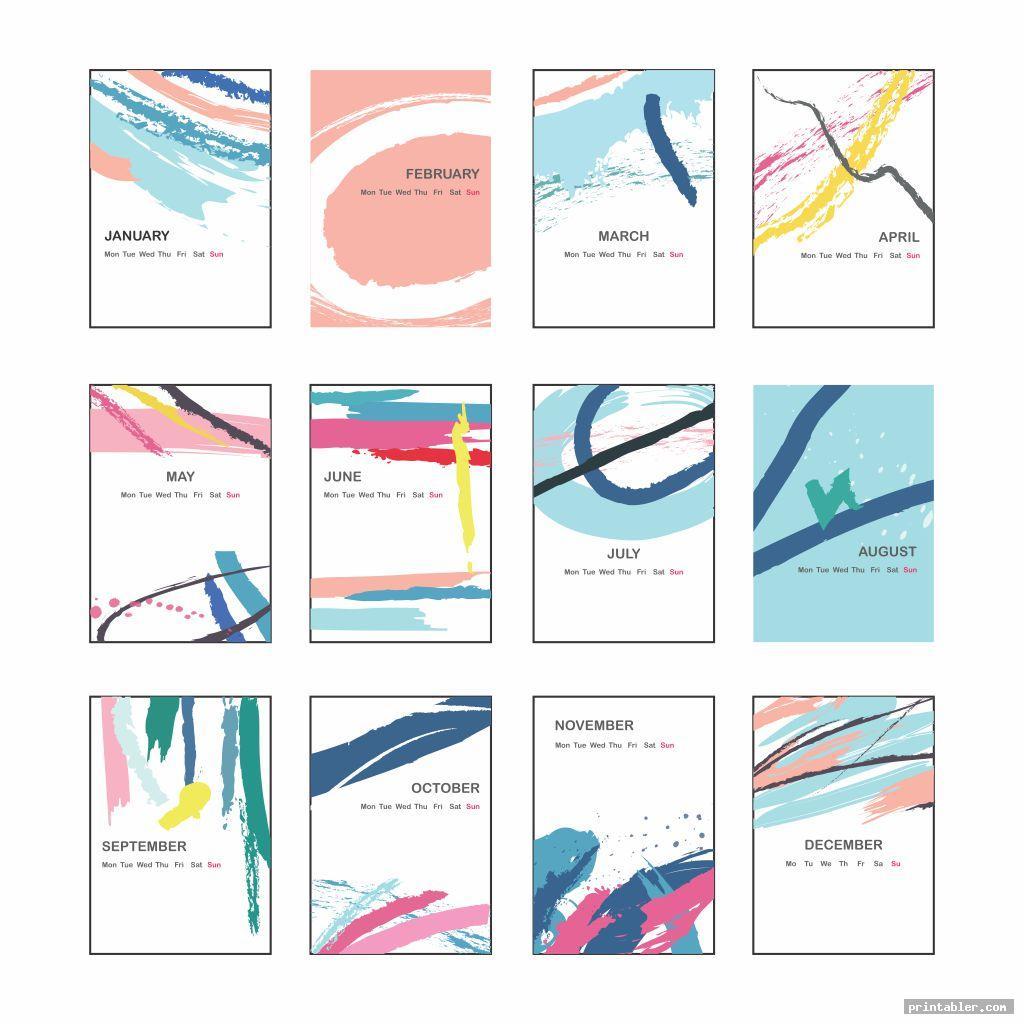 Cute Printable Calendar Templates