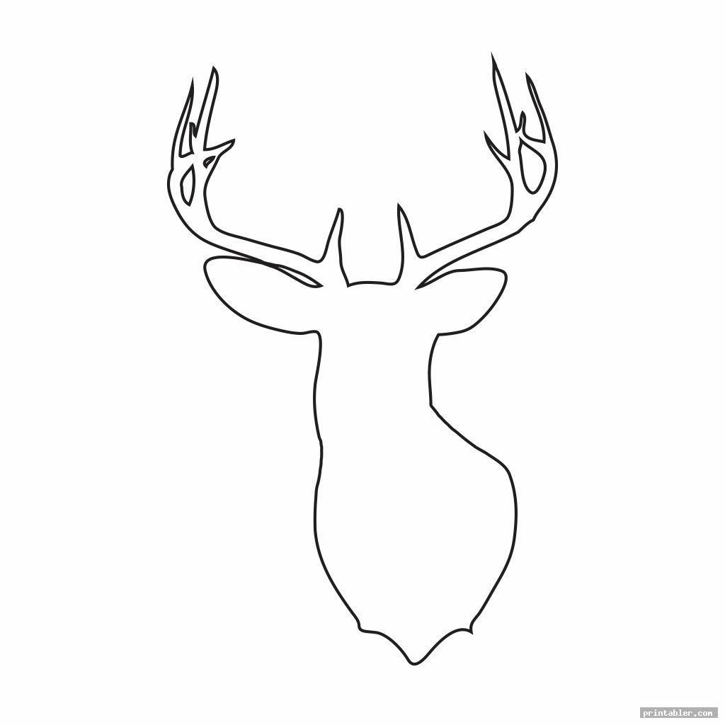 cool deer head stencil printable