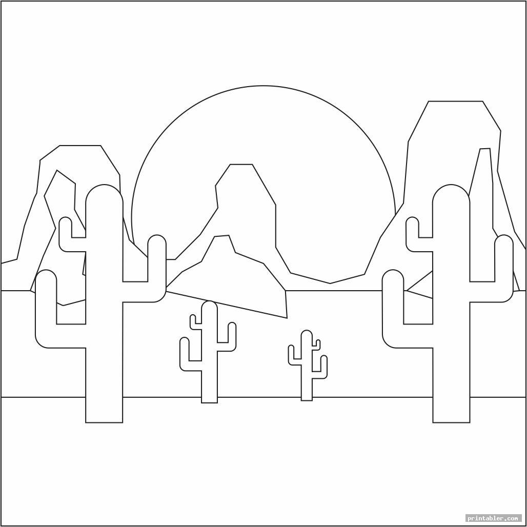 cool desert coloring pages printable