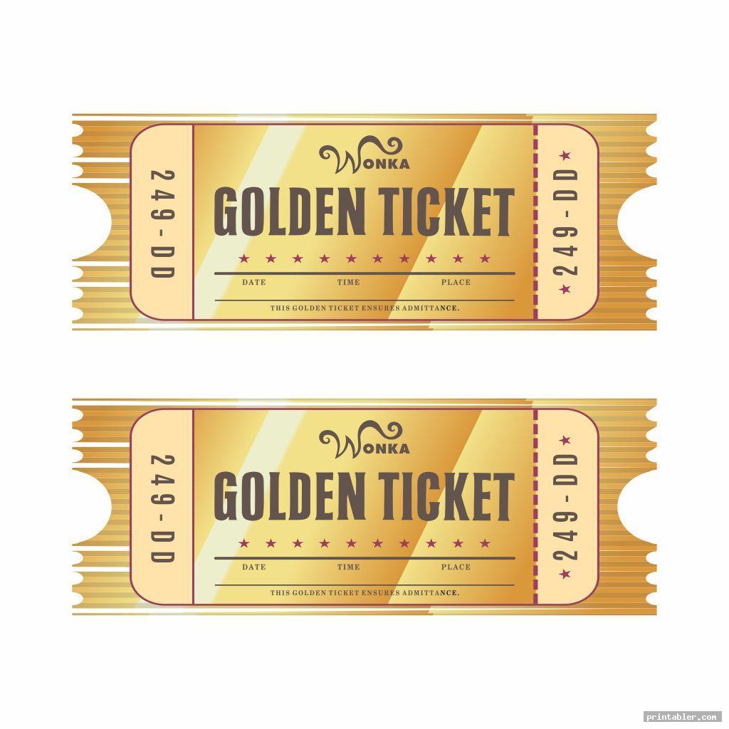 cool editable printable wonka golden ticket