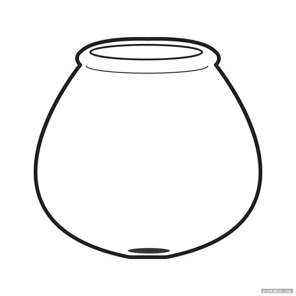 Fish Bowl Template Printable