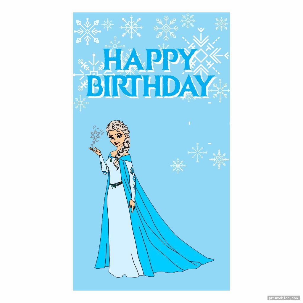 cool frozen birthday banner printable