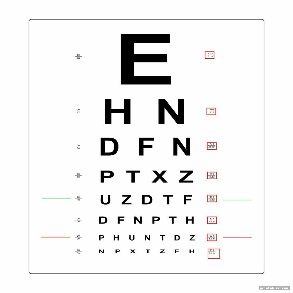 Hand Held Eye Chart Printable