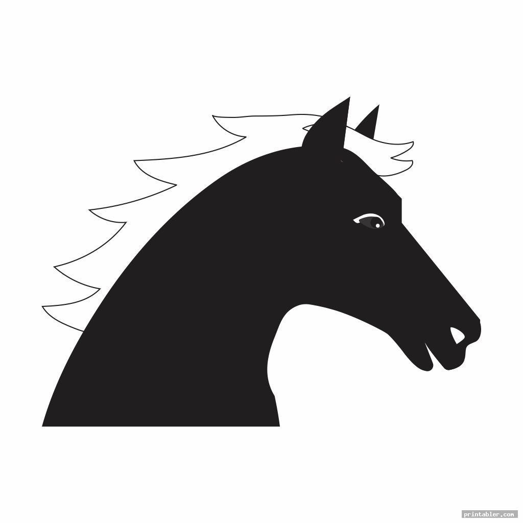 cool horse head template printable