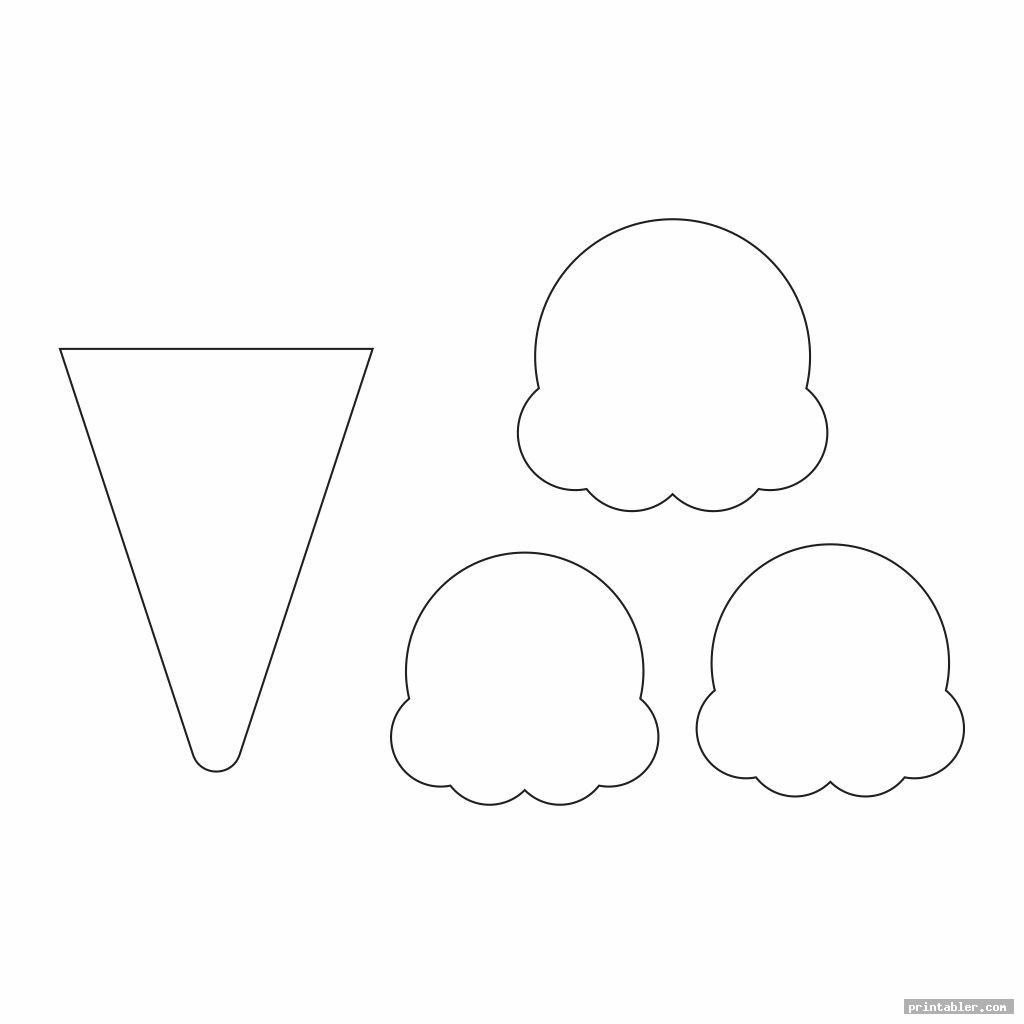 cool ice cream printable pattern