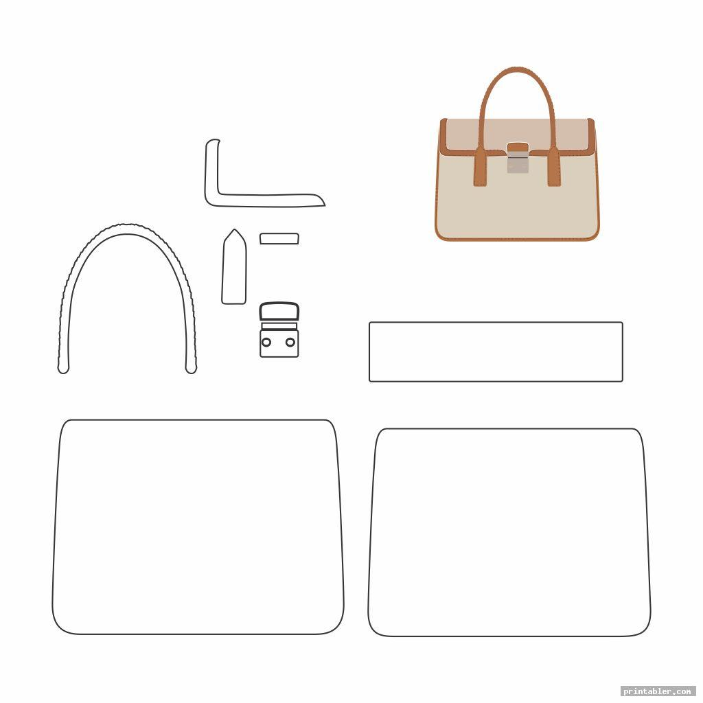 photo relating to Handbag Patterns Free Printable named Leather-based Handbag Practices Printable -