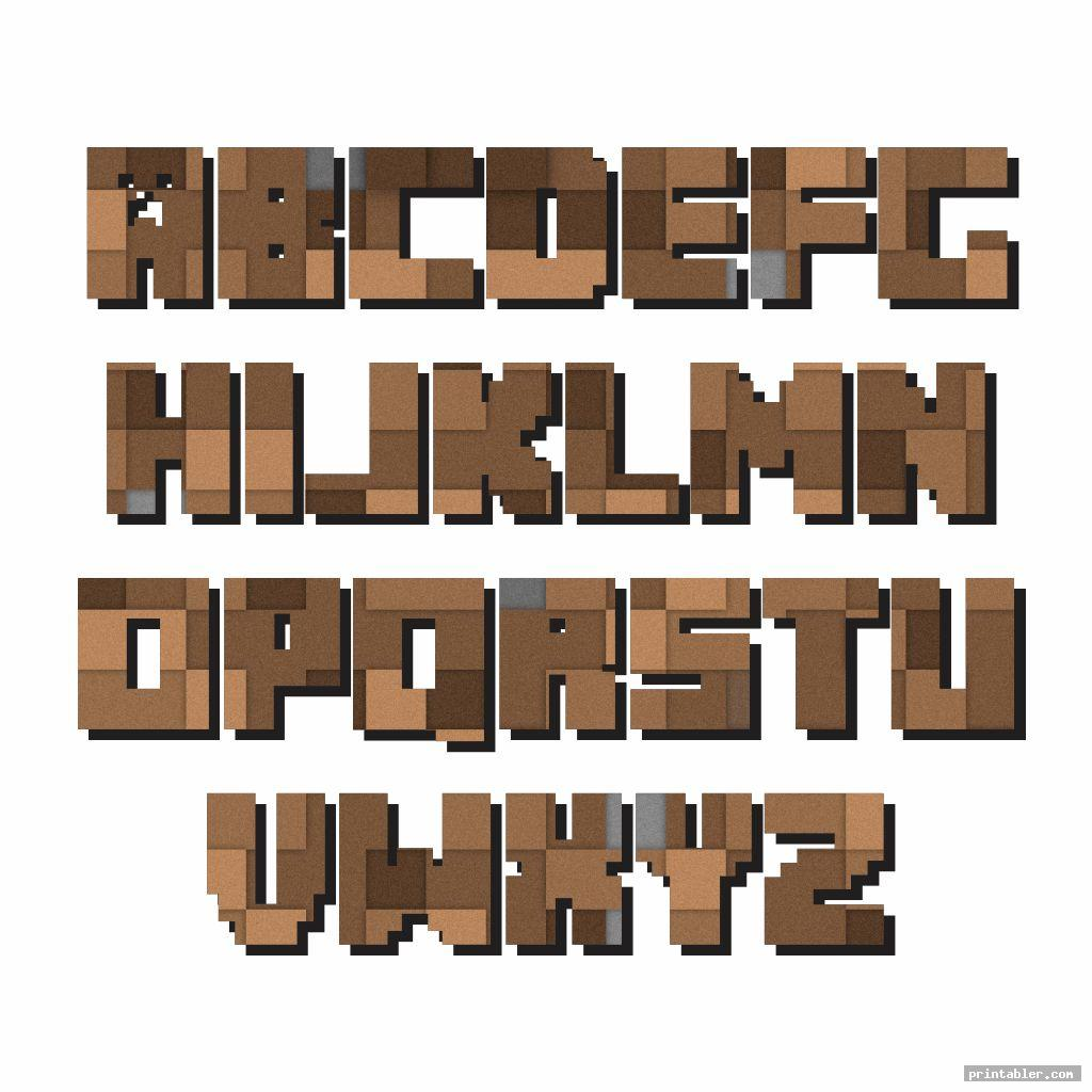 Minecraft Printable Letters