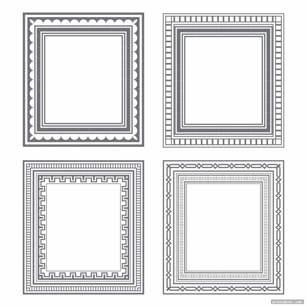 cool paper frame template printable