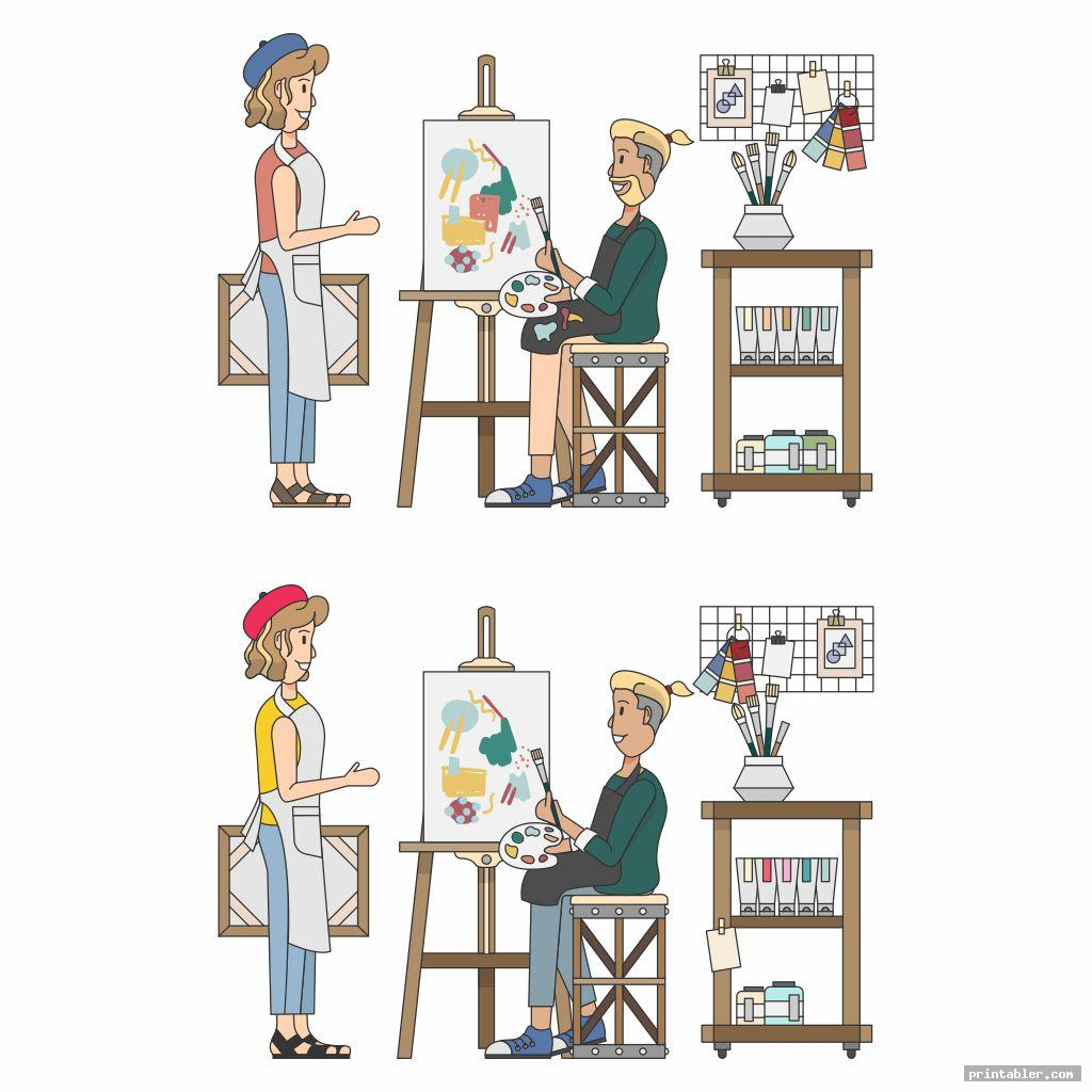 cool printable adult find the difference