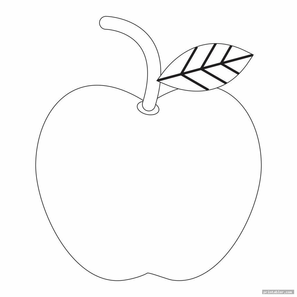 cool printable apple template preschool