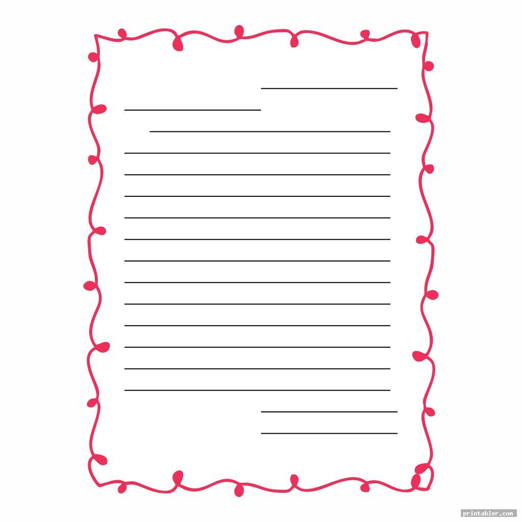 Printable Blank Template Friendly Letter
