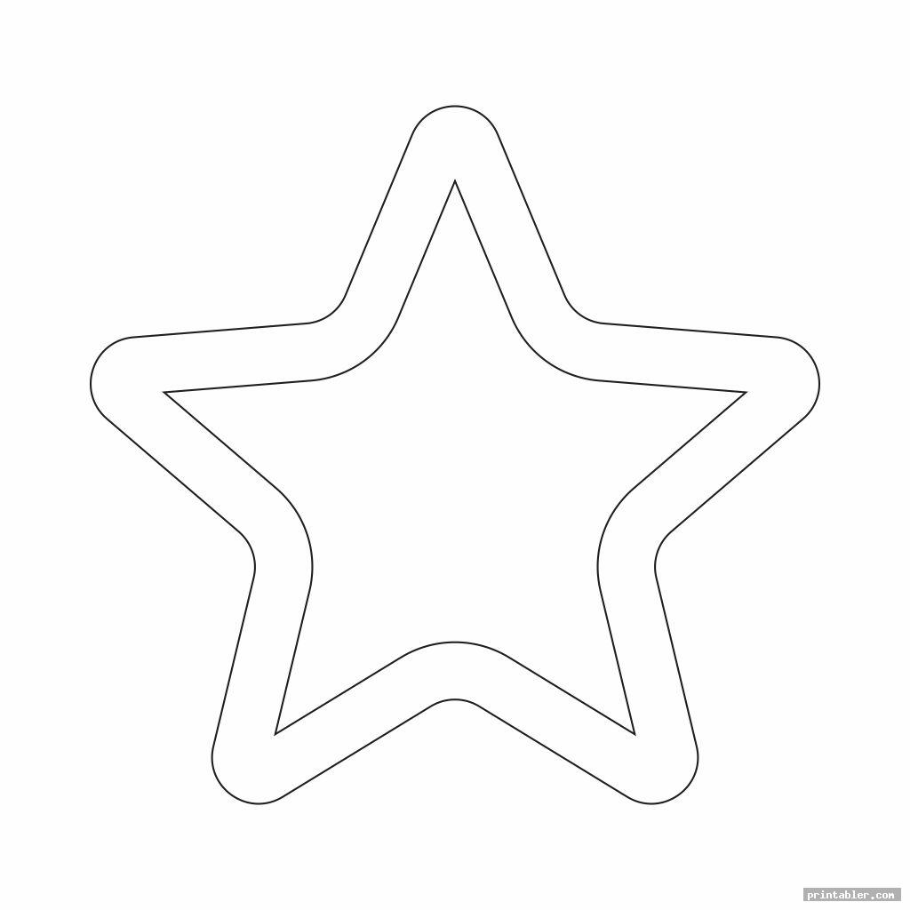 cool printable cut out star shape
