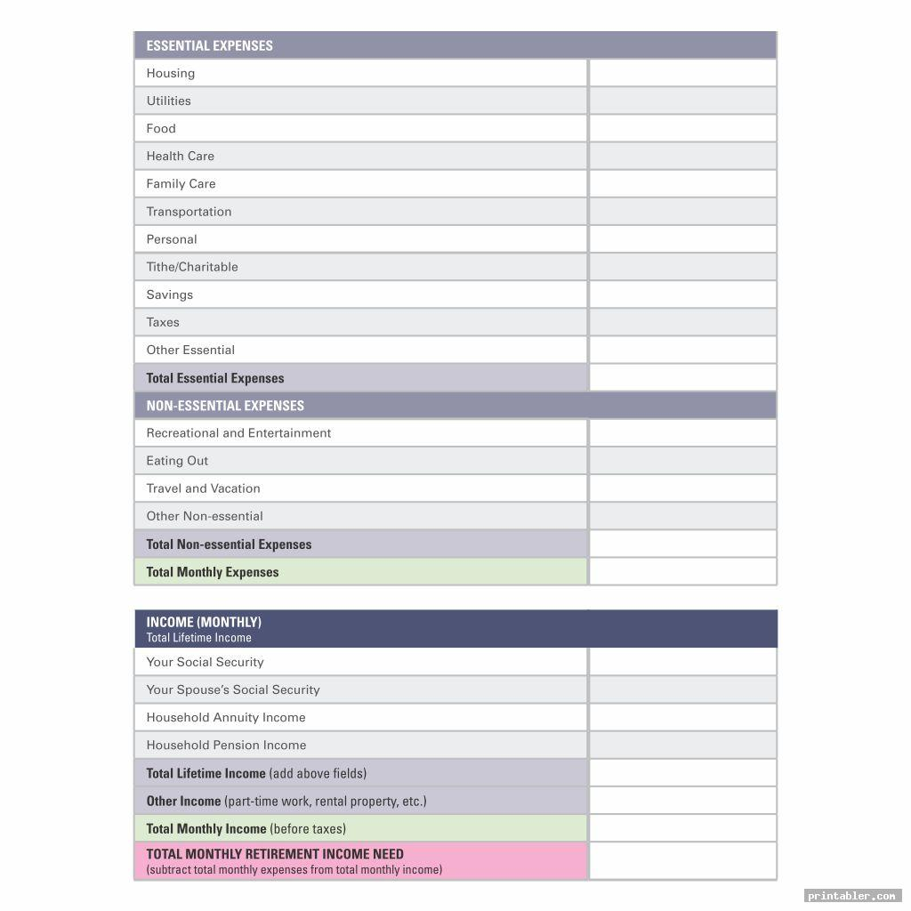Printable Dave Ramsey Budget Worksheets
