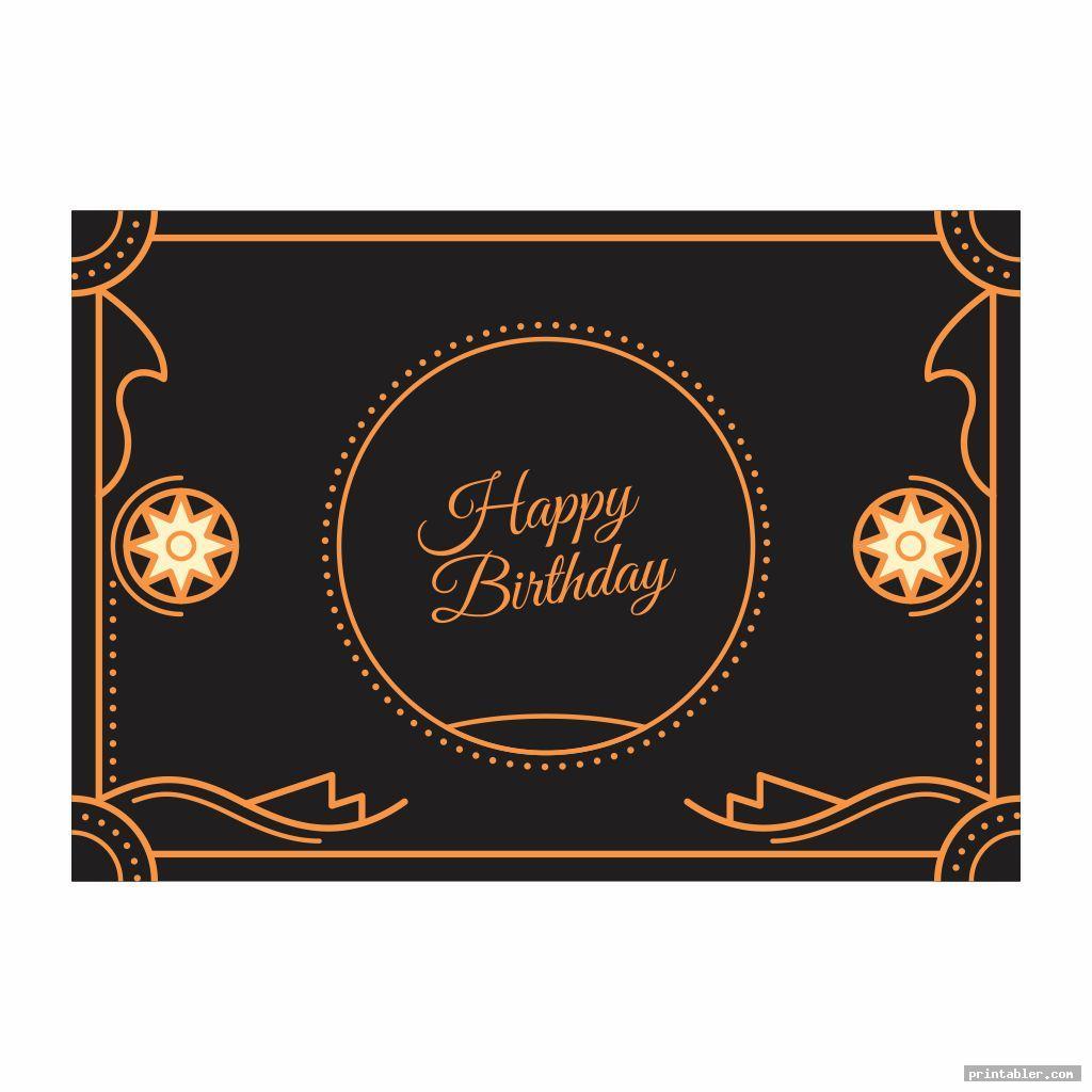 cool printable happy birthday borders