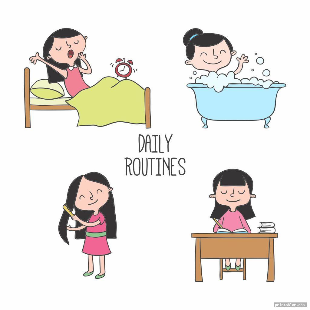 cool printable kids daily routine schedule
