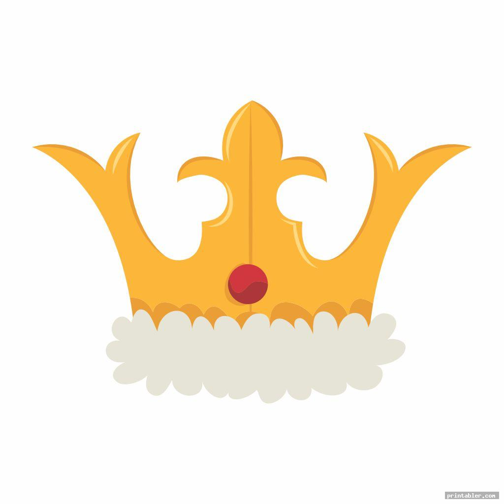 image relating to Printable King referred to as Printable King Crown Template -