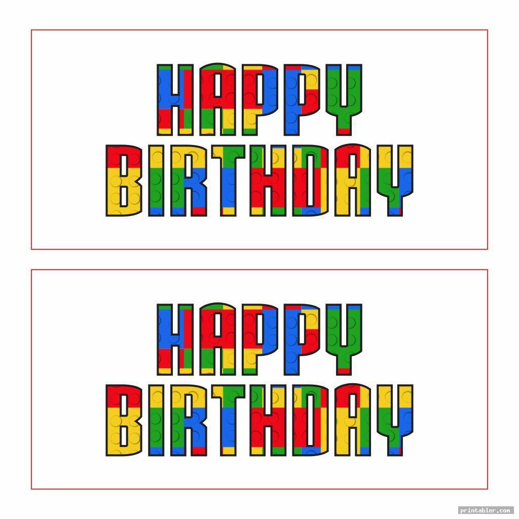 cool printable lego happy birthday sign