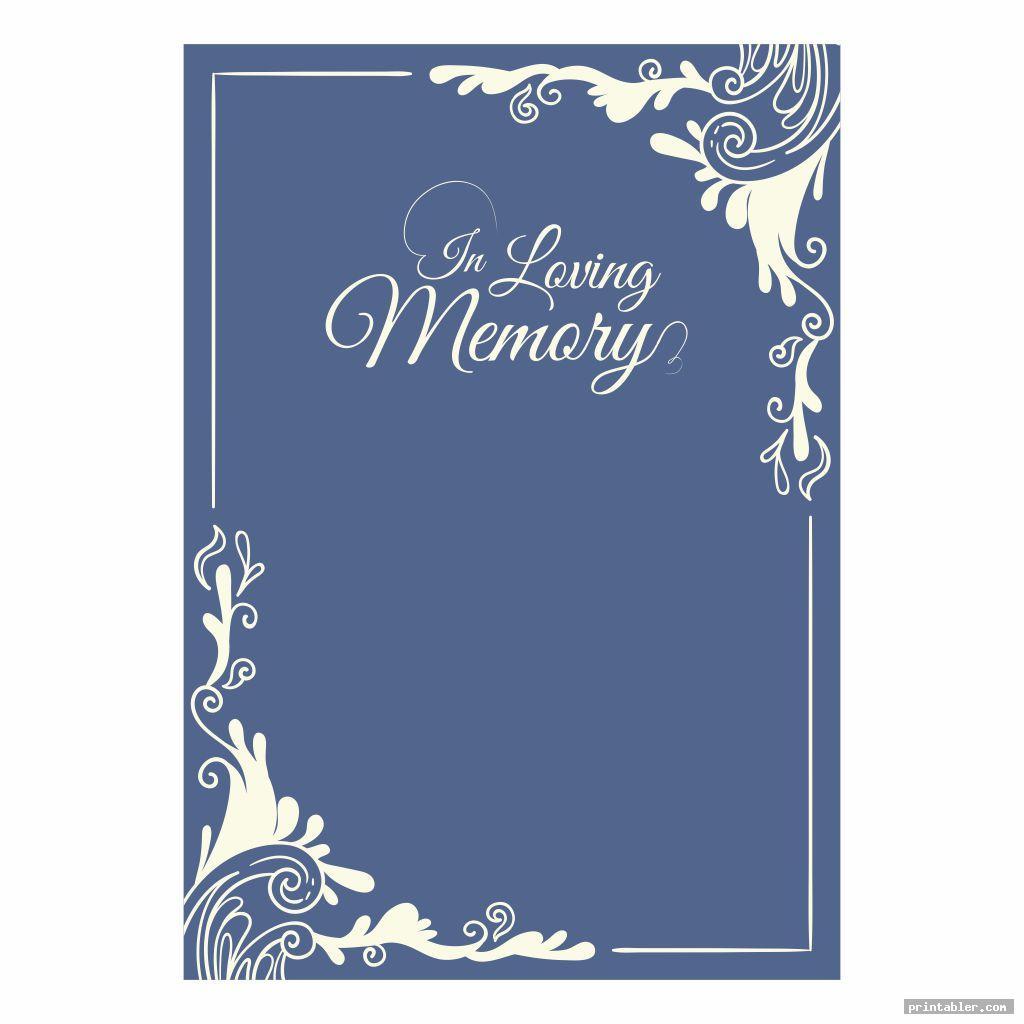 Printable Memorial Prayer Cards