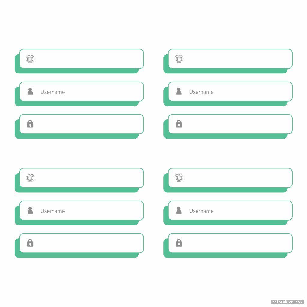 cool printable password and username logs