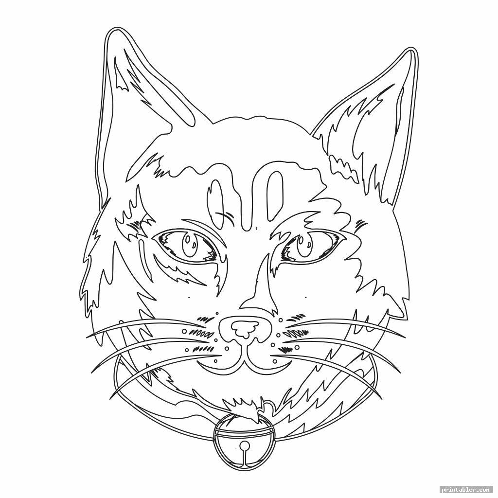 Printable Stained Glass Cat Patterns