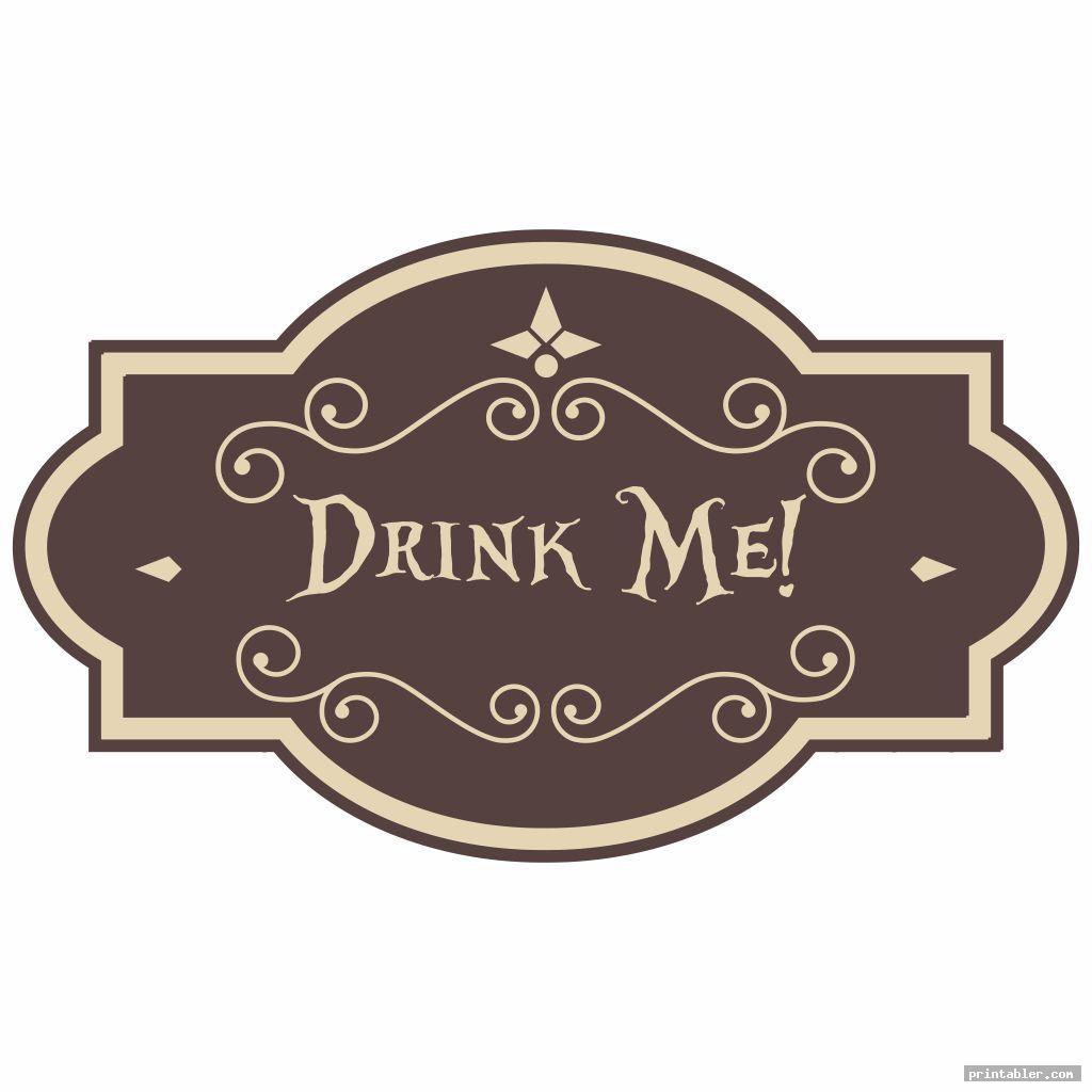 Printable Tags Alice in Wonderland Drink Me