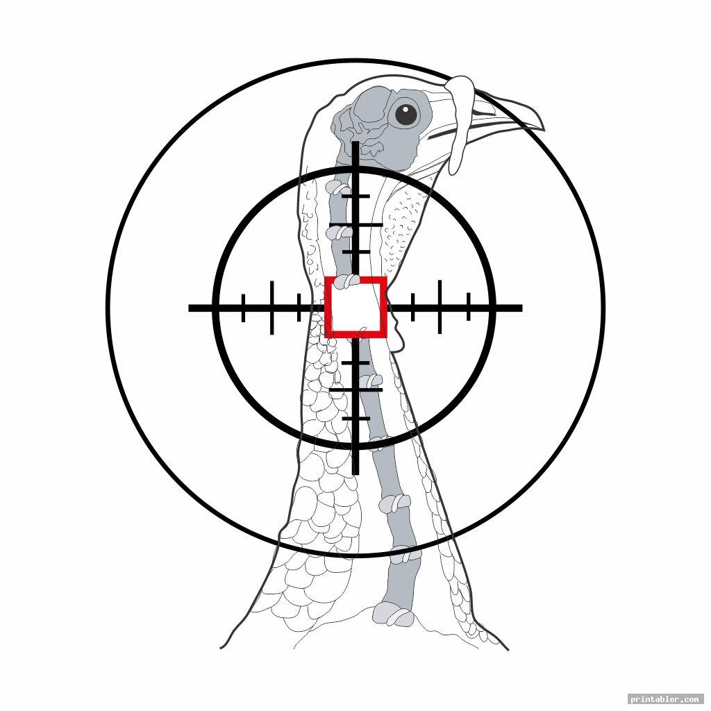 cool printable turkey target real size