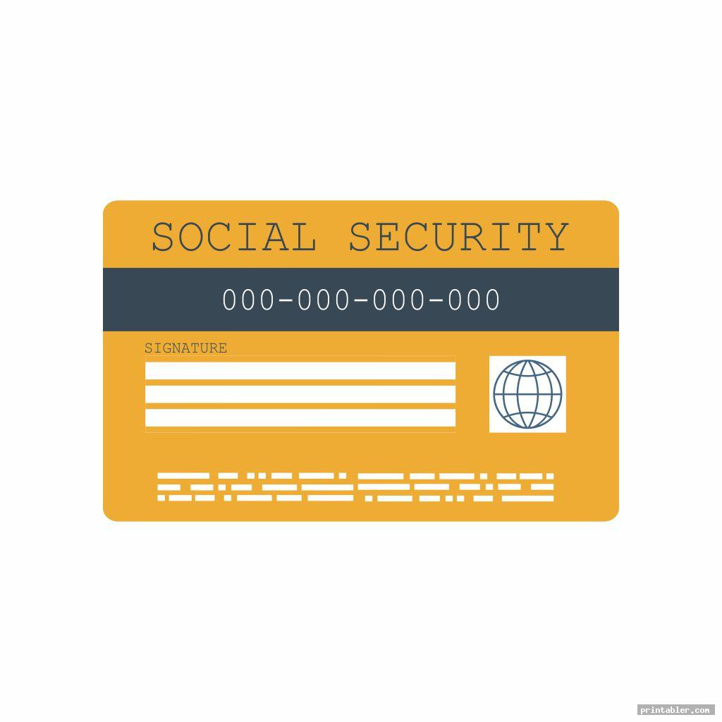 cool social security cards printable