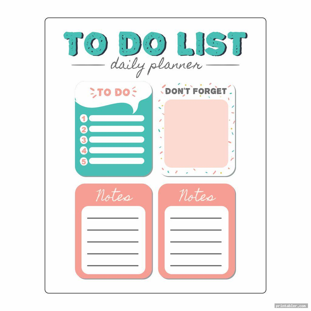 To-Do List Printable Editable Template