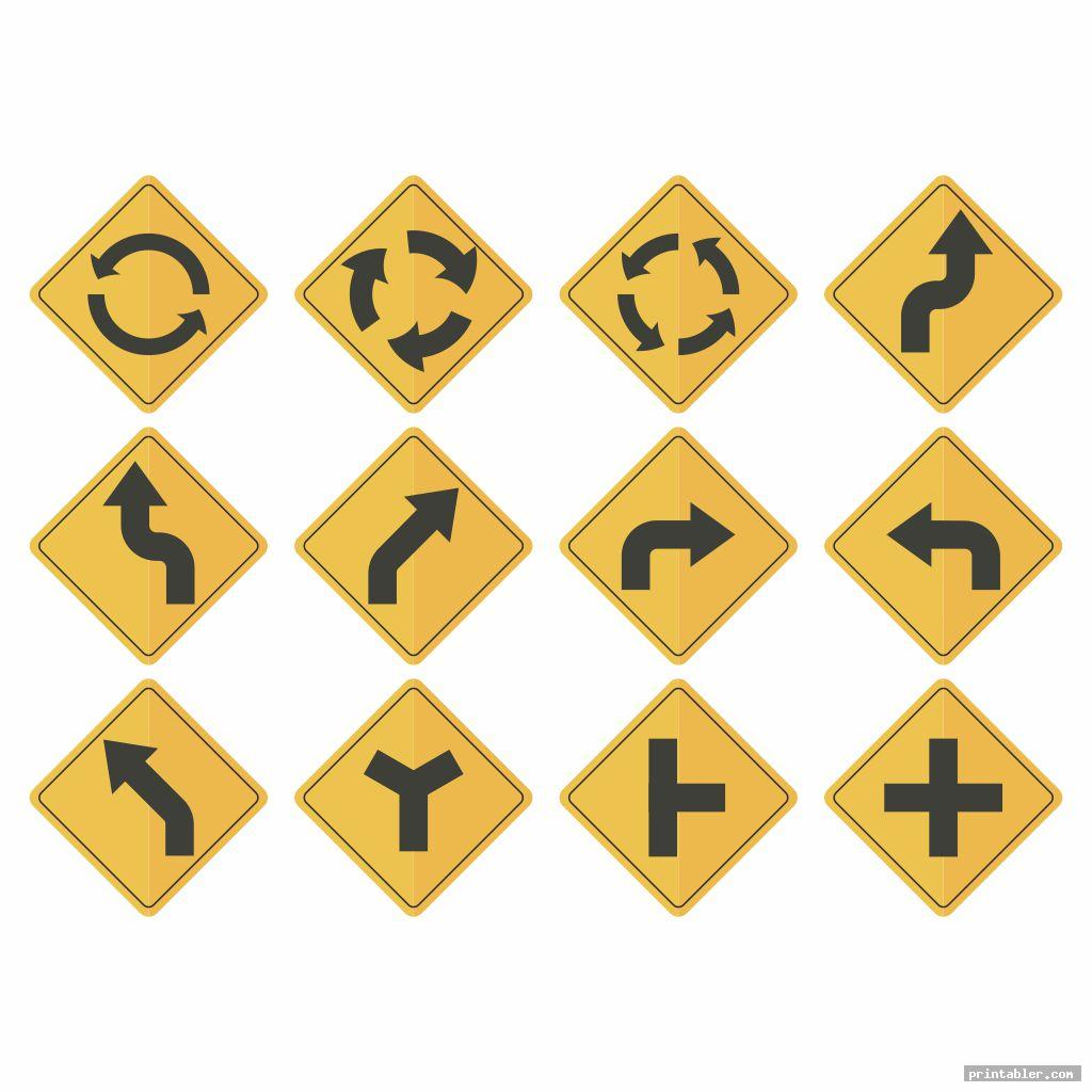 cool traffic sign printables for preschoolers