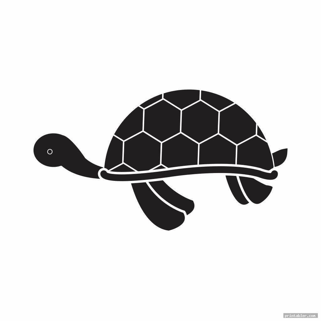 cool turtle template printable