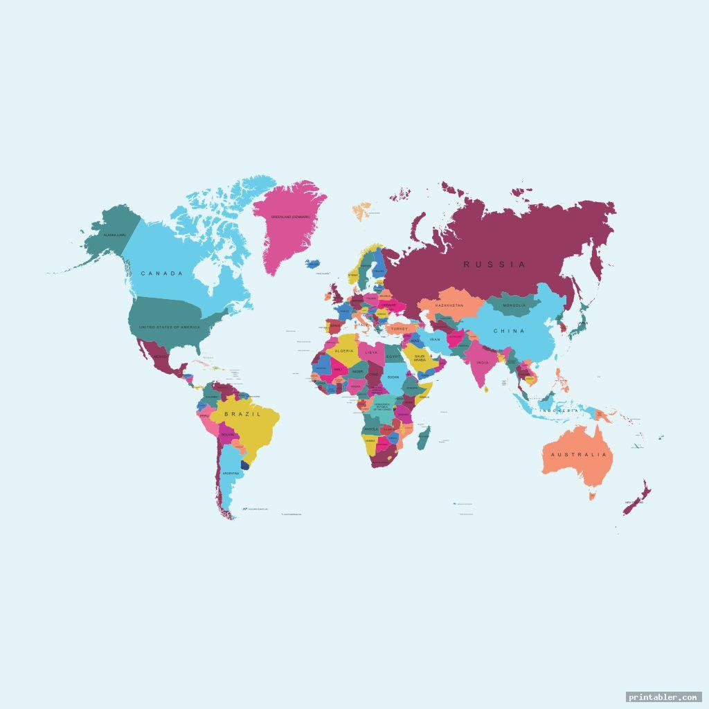 World Map Full Page Printable