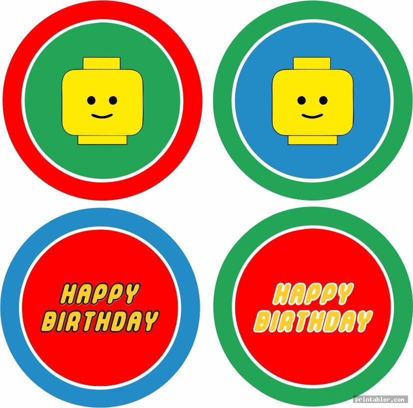 cupcake topper printable lego happy birthday sign