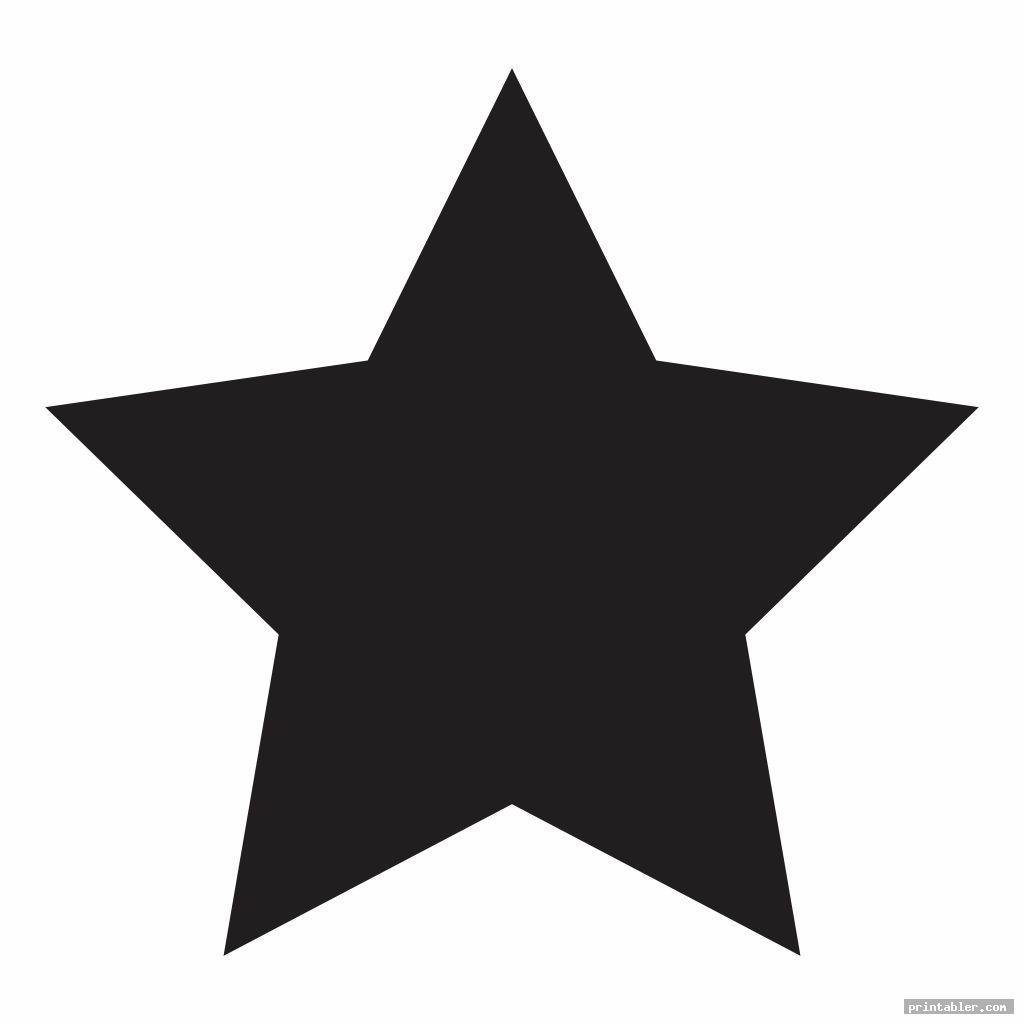 cute big star template printable