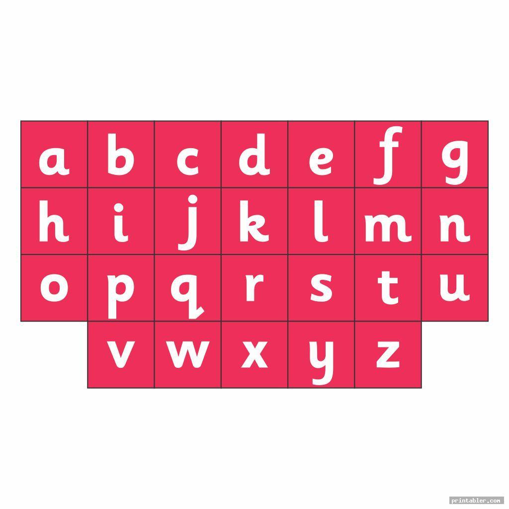 Chart Full Page Alphabet ABC Printable