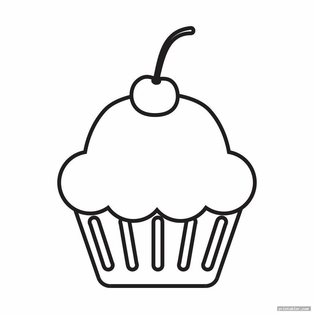 cute cupcake printable template for preschool