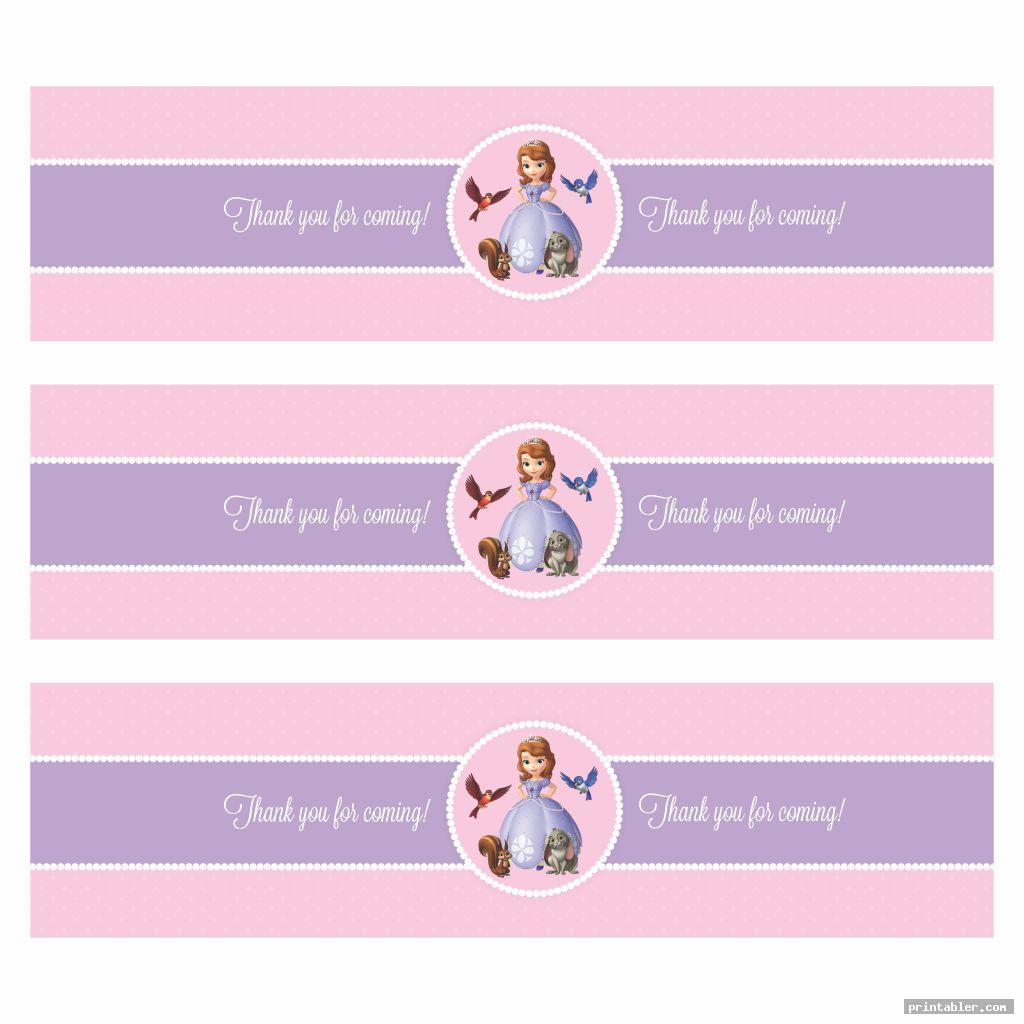 cute for sofia the first printable banners